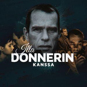 Kollaasi Jörn Donnerista. Ilta Donnerin kanssa -kokonaisuuden markkinointikuva.