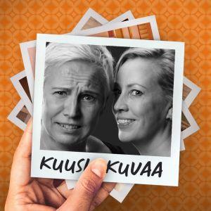 Näyttelijät Mari Turunen ja Kaisa Hela näytelmänsä promokuvassa