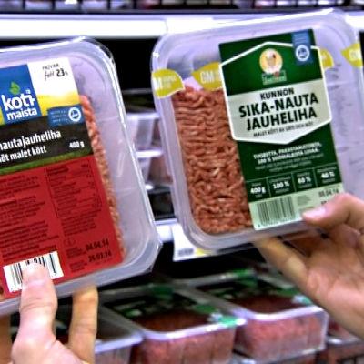 Kotimaista sika-nauta ja Kunnon sika-nauta ovat molemmat GM-vapaita.