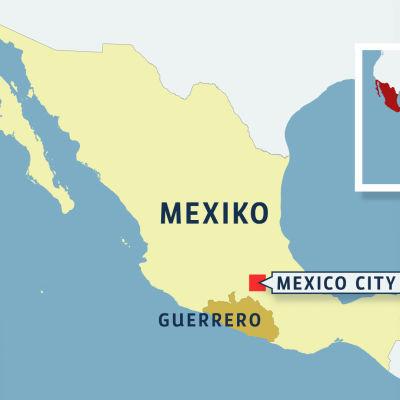 Jordbävning skakade Mexiko