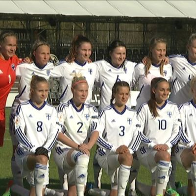 Damernas U20-landslag i fotboll i matchen mot Sveriges U23, maj 2014