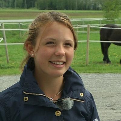 Eirin Losvik hör till junioreliten i fälttävlan.