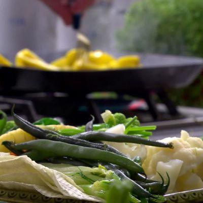 Nykokta grönsaker i Strömsös kök