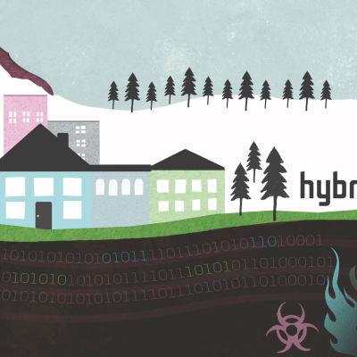 Kuvituskuva hybridisota-käsitteelle