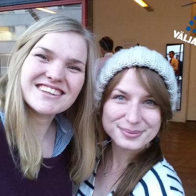 Antonia Bäckman och Stina Wahlsten.