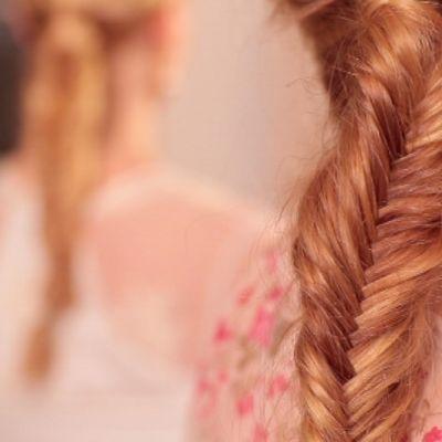 Hiukset kalanruotoletillä