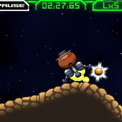 Screenshot från spelet Atomic Super Lander