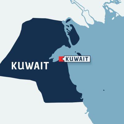 AKrta över Kuwait