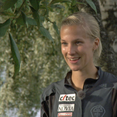 Hinderlöparen Camilla Richardsson i Tammerfors, september 2015