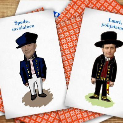Kuvassa kaksi korttia.