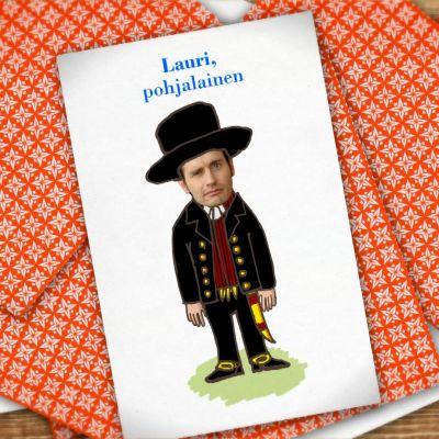 Kuvassa Lauri Tähkä -pelikortti.