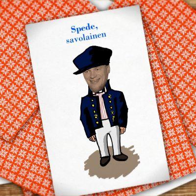 Kuvassa Spede-pelikortti