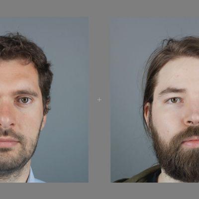 Kuvapari kasvoista
