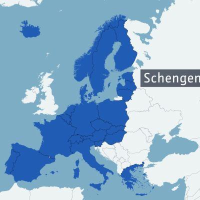 Karta över Schegenländerna