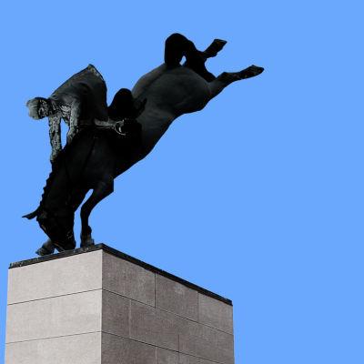 Kuvituskuva KulttuuriCocktailin artikkeliin Mannerheimin patsaasta