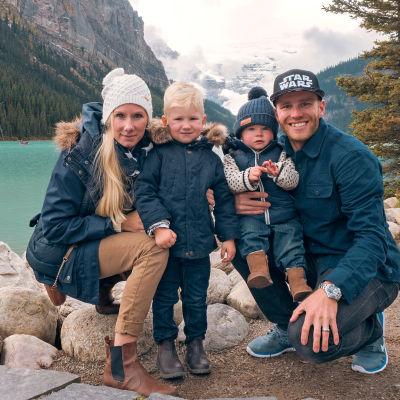 Mika Poutala ja perhe