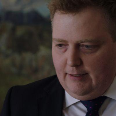 Islannin pääministeri Sigmundur David Gunnlaugsson.