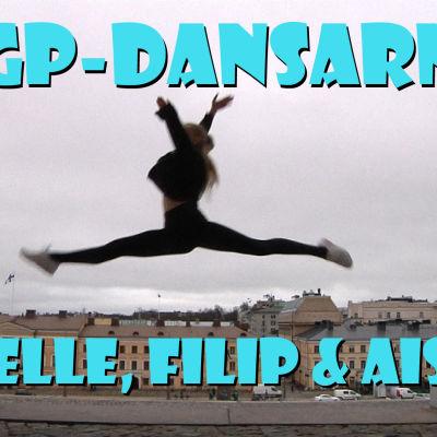 Giselle Ahola vid inspelningarna av webbserien MGP-dansarna