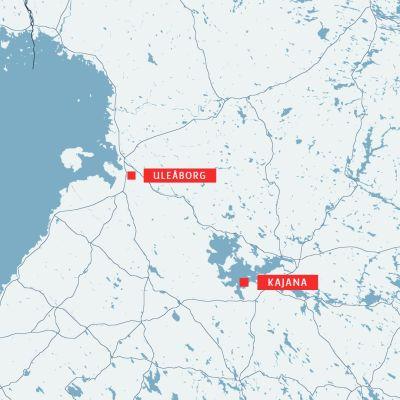 Karta med Kaja och Otanmäki