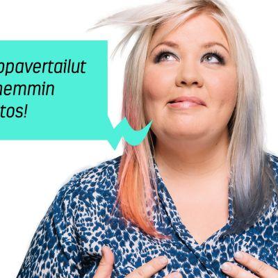 Jenny Lehtinen ja puhekupla: Kestä vaippavertailut nyt, myöhemmin seuraa kiitos!
