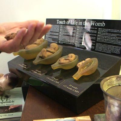 Fosterdockorna i plast används för att få kvinnor att anknyta till fostret.