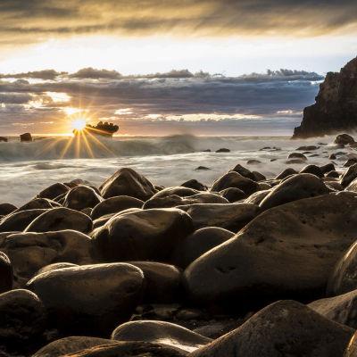 Solnedgång på Nya Zeeland