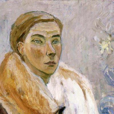 Detalj ur självporträtt av Tove Jansson
