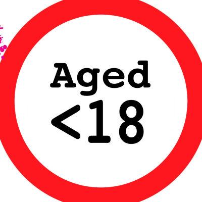 en skylt som visar att man skall vara 18 år gammal eller äldre