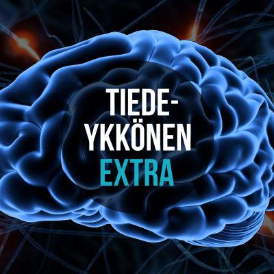 graafinen kuva aivoista ja hermosoluista, kuvan päällä teksti Tiedeykkönen Extra