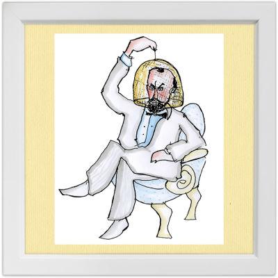Lassi Rajamaan piirros säveltäjä Karl Collanista.