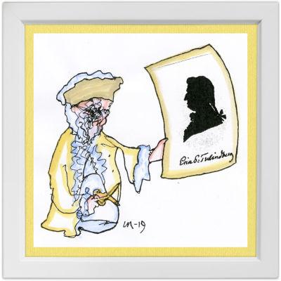 Lassi Rajamaan piirros säveltäjä Erik Tulindbergistä.