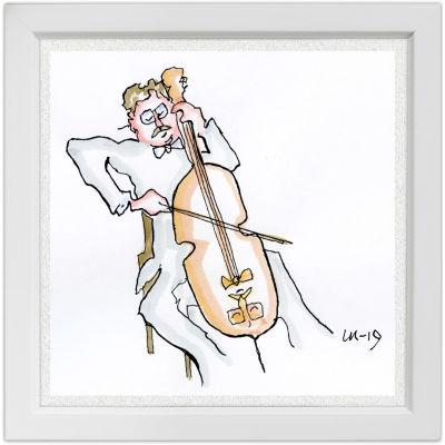 Lassi Rajamaan piirros sellotaiteilija Arto Noraksesta.