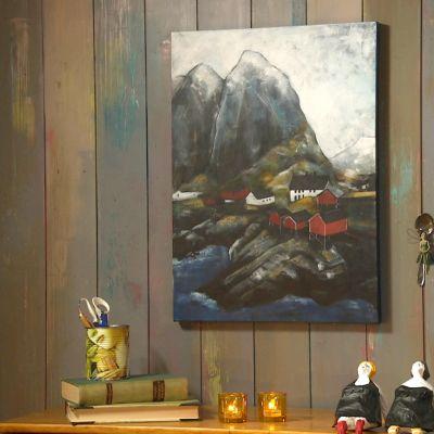 Ett målat landskap.