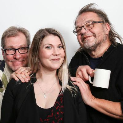 Jyrki Koskenseppä, Katri Ylander ja Kalevi Pollari Levylautakunnassa