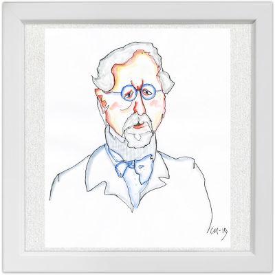 Lassi Rajamaan piirros säveltäjä Richard Faltin vanhemmasta.
