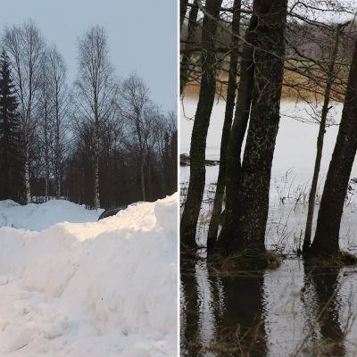 Ivalossa ja Turussa oli keskiviikkona kovin erilainen lumitilanne..