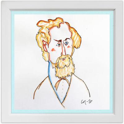 Lassi Rajamaan piirros säveltäjä Ernst Fabritiuksesta.