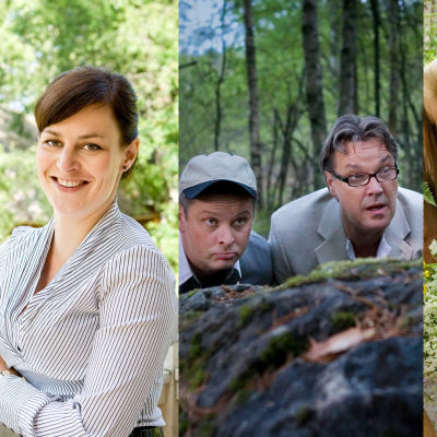 Kuvakollaasi Karjalan kunnailla -sarjan henkilöistä.