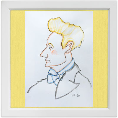 Lassi Rajamaan piirros kapellimestari Georg Schnéevoigtista.