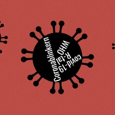 En tecknad bild på coronavirus.