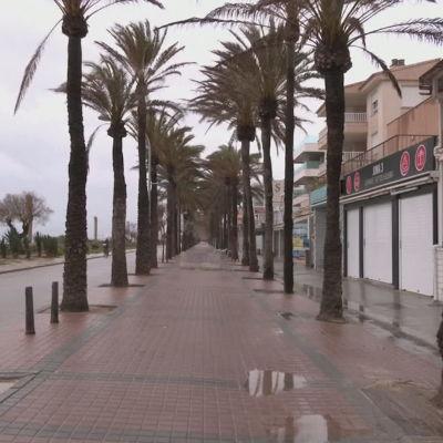 Blåsigt och regnigt på Mallorca 20.3.2021