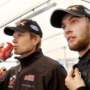 Marcus och Niclas Grönholm mellan racen.