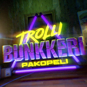 Trollibunkkeri-pakohuoneen logo