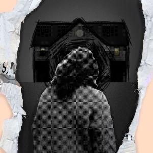 kuvituskuva masentuneesta henkilöstä ja talosta