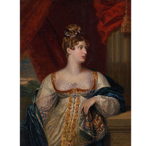 Englannin rakastettu prinsessa Charlotte, Muotokuva George Dawe, 1817.