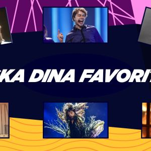 Kollage med legendariska Eurovisonsartister