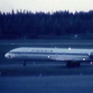 Kaapattu Finnairin lentokone Helsinki-Vantaalla (1978).