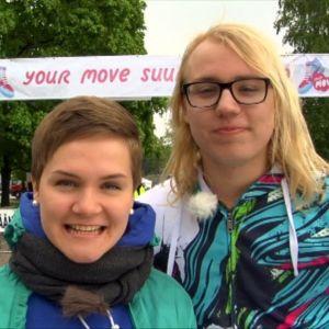 Ronja ja Womma kävivät Your Move-tapahtumassa Helsingissä kesällä 2011.