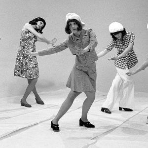Muotinäytös, vuonna 1972.