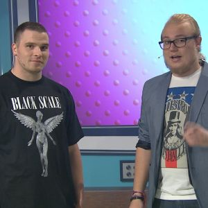 Rap-artisti Tuomas Kauhanen Womman vieraana Galaxissa 2013.